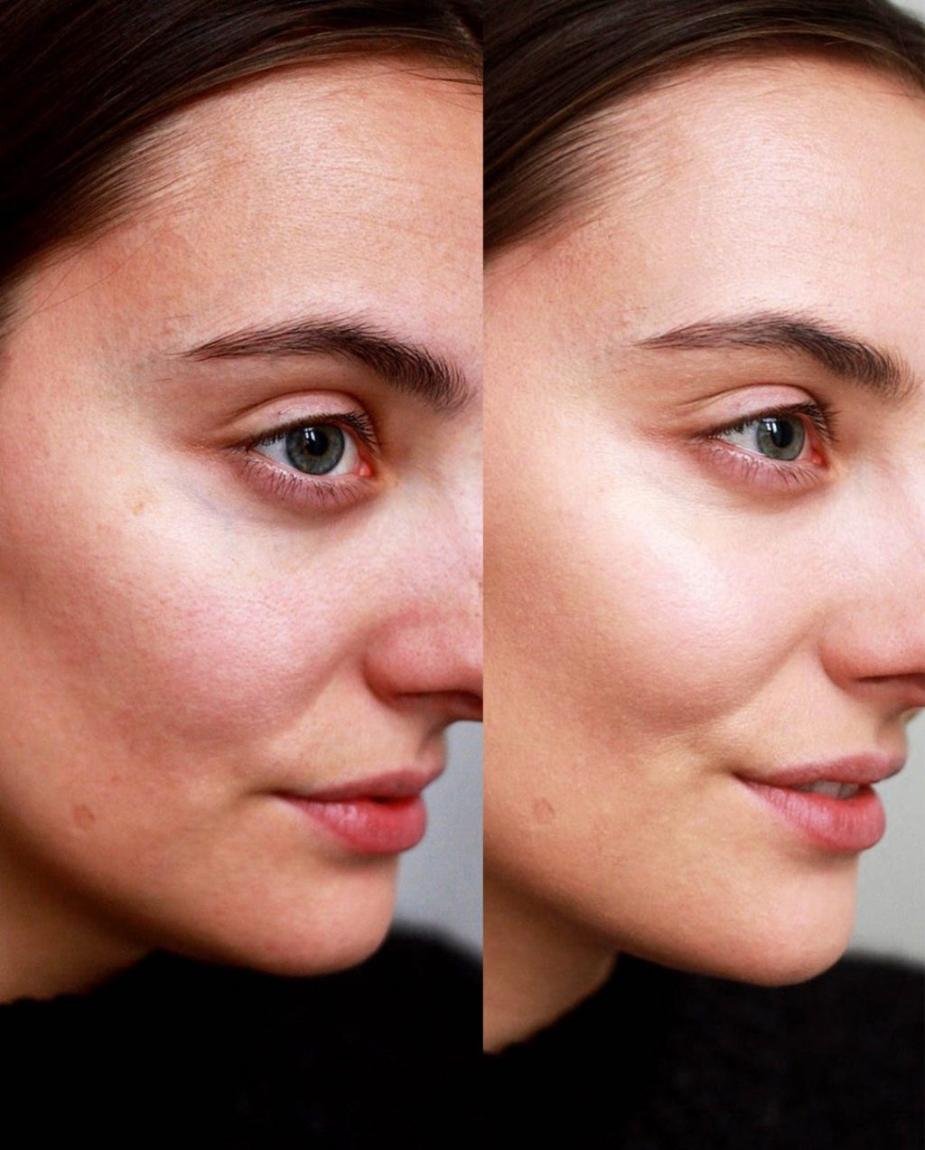 Even Better Glow Foundation: Before/after